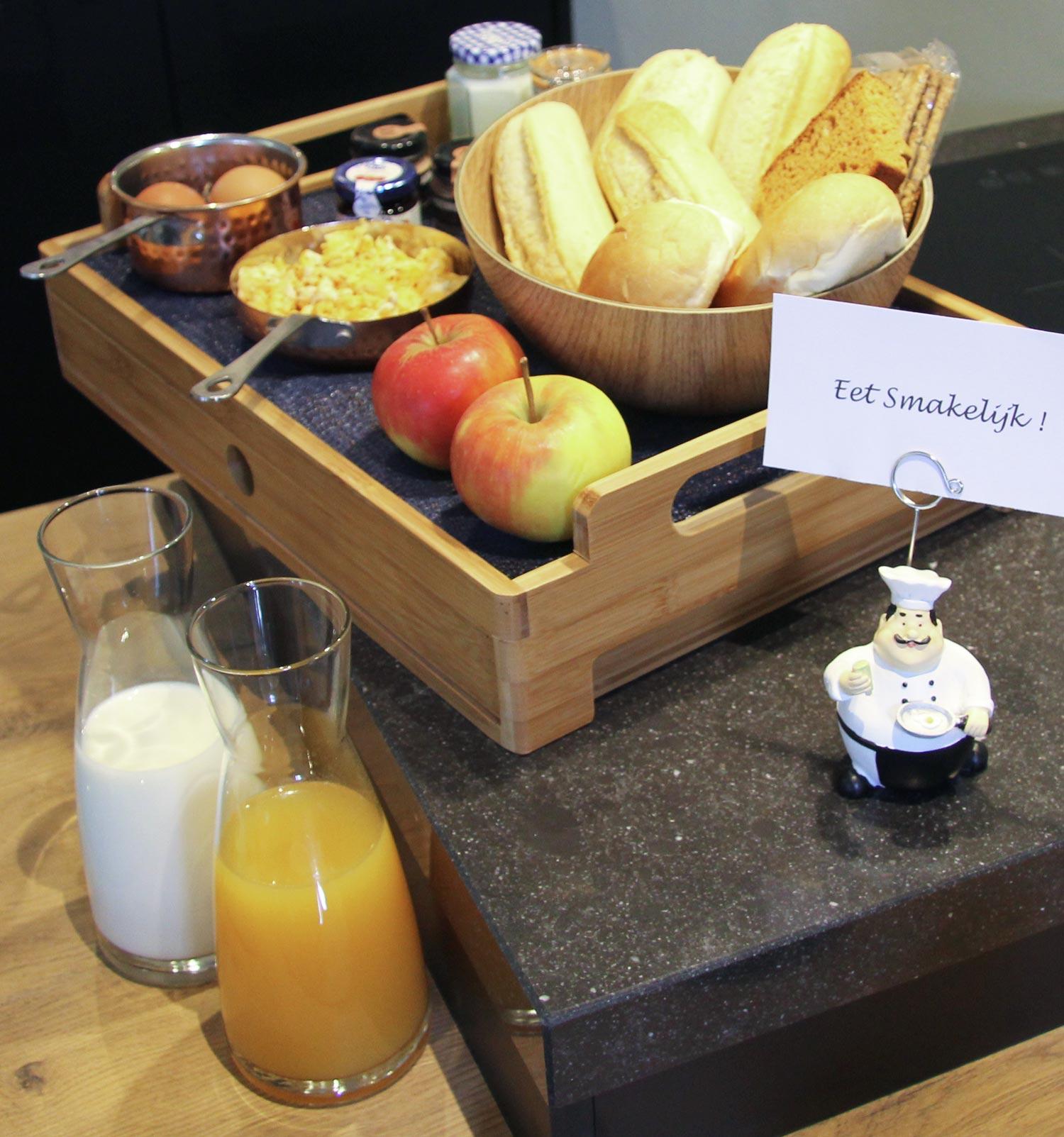 Lekker ontbijt in B&B Staphorsterveld